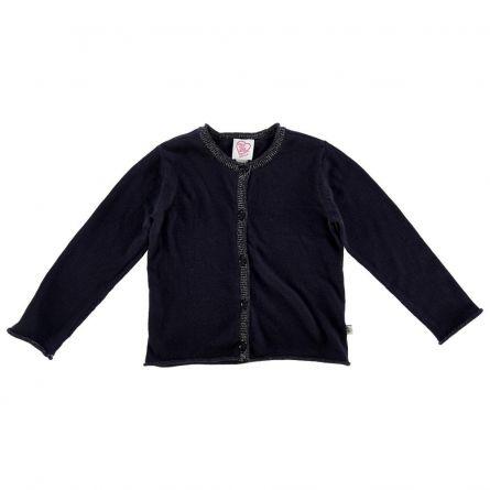 Cardigan copii Chicco, tricotat, bleumarin, 128