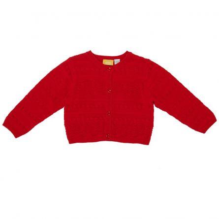 Cardigan copii Chicco, tricotat, rosu, 96623