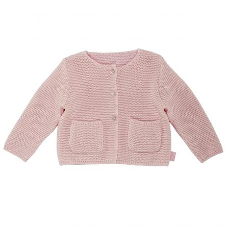 Cardigan copii Chicco, tricotat, roz, 104