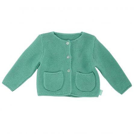 Cardigan copii Chicco, tricotat, verde menta, 56
