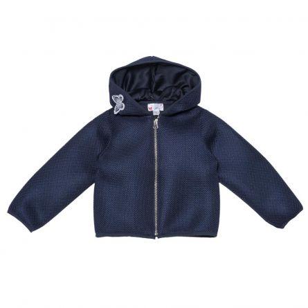 Jacheta pentru fetite Chicco, cu gluga, albastru, 96352