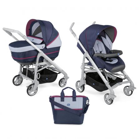 Carucior 2 in 1 Chicco Duo Love UP, carucior si landou, Earl Grey, 0luni+