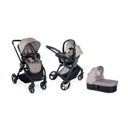Carucior 3 in 1 Chicco Trio Best Friend Light, Beige, 0luni+