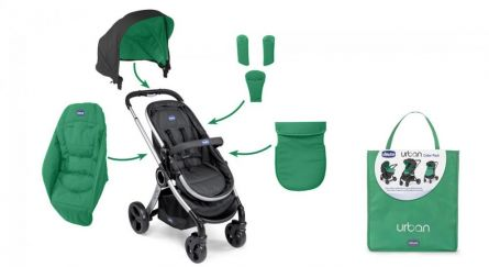 Color Pack Carucior Chicco Urban, Green Wave