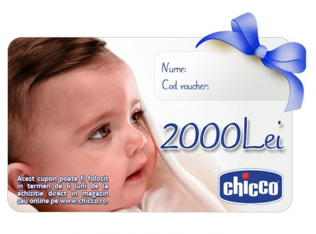 Cupon CADOU Chicco Gift Card 2000Lei