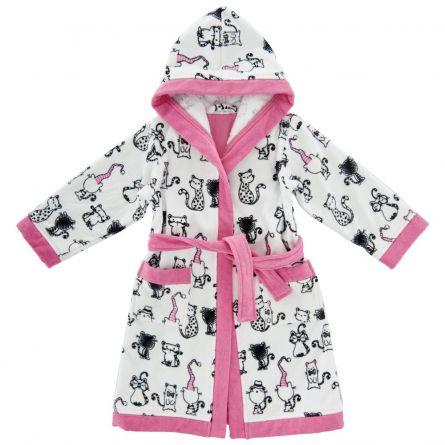 Halat baie copii Chicco, fetite, alb cu roz si negru, 116