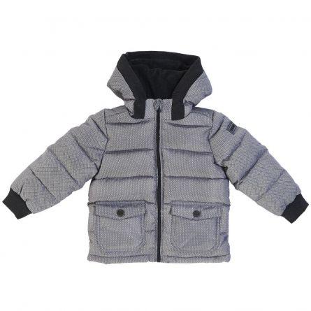 Jacheta copii Chicco, gri cu model, gluga detasabila, 116