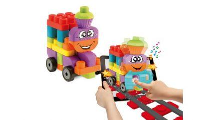 Jucarie Chicco App set 40 piese constructie 3D Vehicule, 12luni+