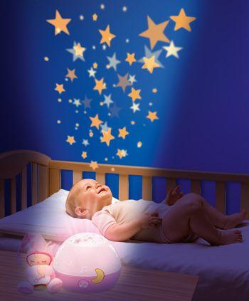 Jucarie Chicco lampa cu proiectie Primele Vise, Noapte buna, stelute!, Roz, 0luni+