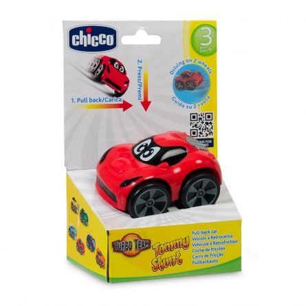 Jucarie Chicco masinuta Turbo Touch Tommy, 3-6ani