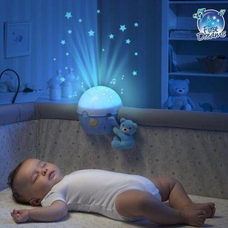 Lampa muzicala Chicco Aproape de stele, bleu, 0luni+