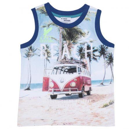 Maieu plaja pentru copii, Chicco, albastru cu model, 122