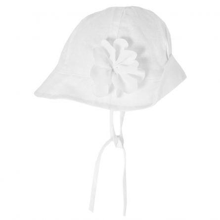 Palarie fetite Chicco, alb, 04016