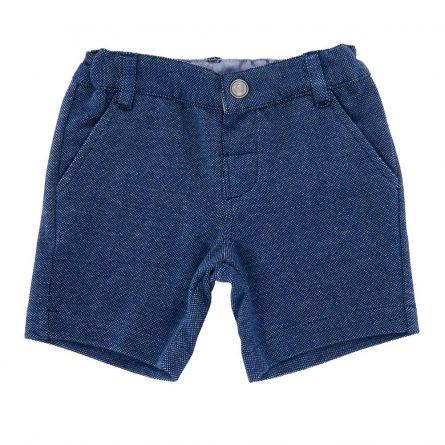 Pantalon copii Chicco, scurt, albastru cu picouri, 104