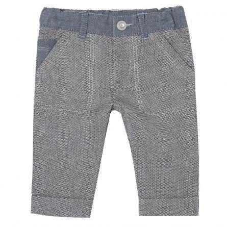 Pantalon lung baietei Chicco, gri cu betelie denim, 86