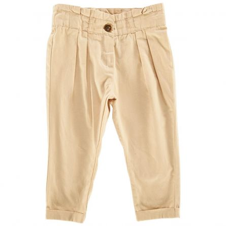Pantalon lung copii Chicco, bej cu model, 128