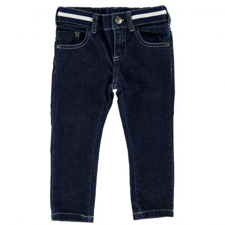 Pantalon lung copii Chicco, denim-bleumarin, 104
