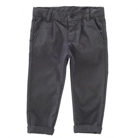 Pantalon lung copii Chicco, gri cu negru, 92