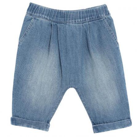 Pantalon lung pentru copii, Chicco, fete, albastru, 74
