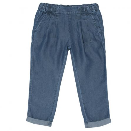 Pantalon lung copii, Chicco, fetite, denim, 24459