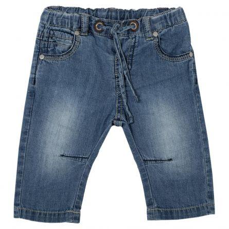 Pantalon lung copii Chicco, baieti, denim, 74