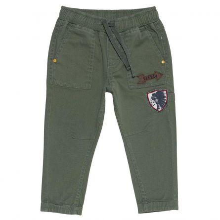 Pantalon copii Chicco, baieti, verde kaki, 110
