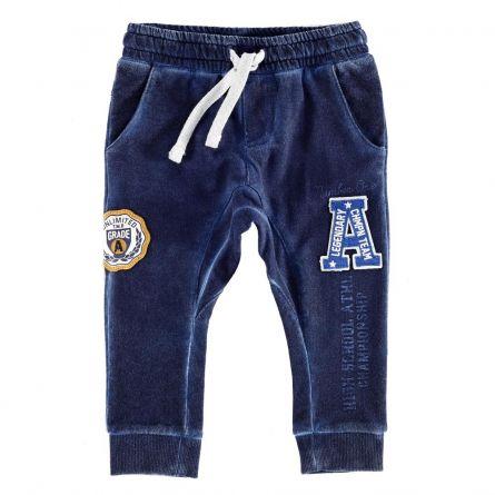 Pantaloni copii Chicco, albastru, 80