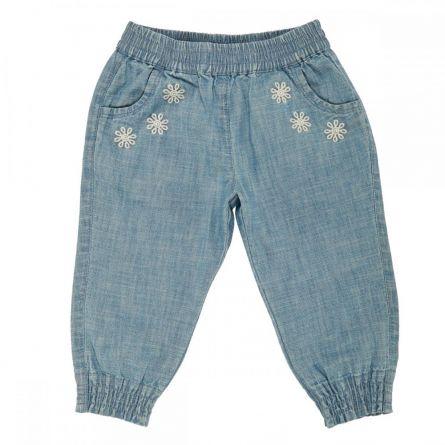 Pantaloni copii Chicco, denim,albastru deschis, fete, 92