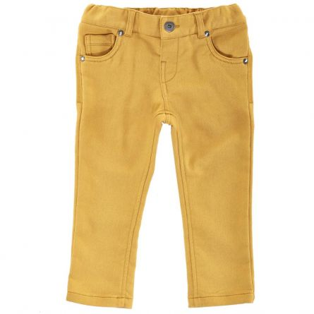 Pantaloni lungi copii Chicco, galben auriu, 128