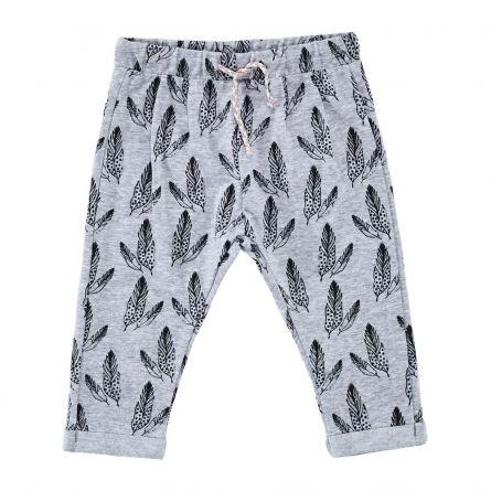 Pantaloni lungi copii Chicco, gri cu model, 92