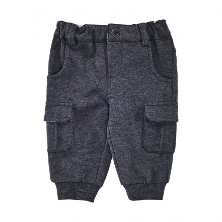 Pantaloni lungi copii, Chicco, negru cu albastru, 56