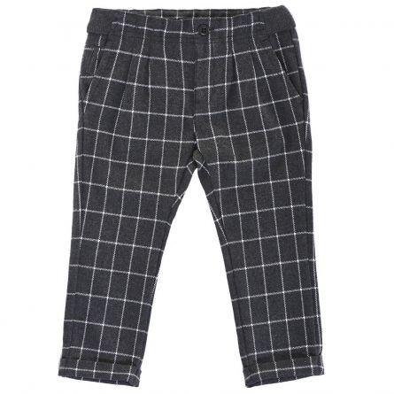 Pantaloni lungi copii, Chicco, negru cu dungi albe, 116