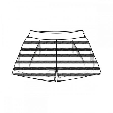 Pantaloni scurti copii Chicco, alb cu negru, 128