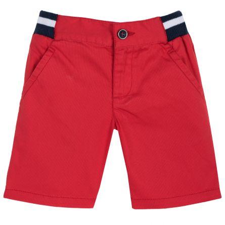 Pantaloni scurti copii Chicco, rosu cu roz, 122