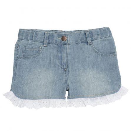 Pantaloni scurti copii Chicco, pentru fetite, albastru, 110