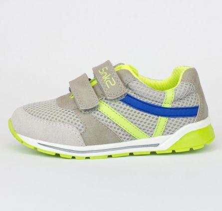 Pantof sport copii Chicco, gri cu model, 28