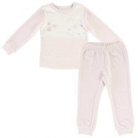 Pijama copii Chicco, maneca lunga, roz, 92