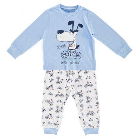 Pijama copii Chicco, maneca lunga, turcoaz, 122