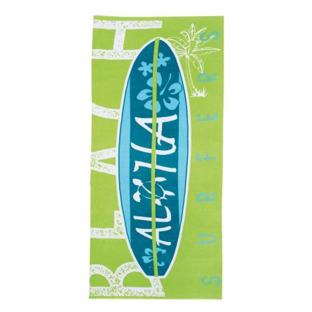 Prosop plaja copii, Chicco, baieti, verde cu albastru si turcoaz, 40834