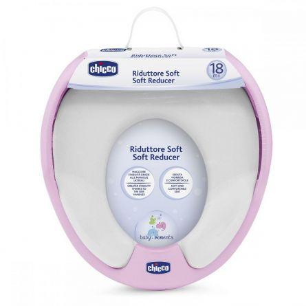 Reductor Chicco pentru WC, soft, Roz, 18luni+
