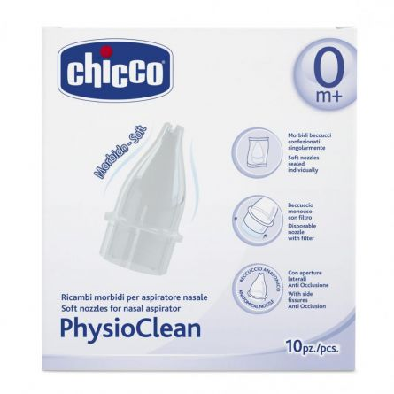 Rezerva Chicco PhysioClean pentru aspirator nazal, 10buc.