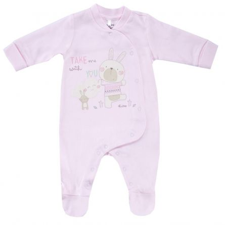 Salopeta bebelusi Chicco, deschidere fata, roz, 21524