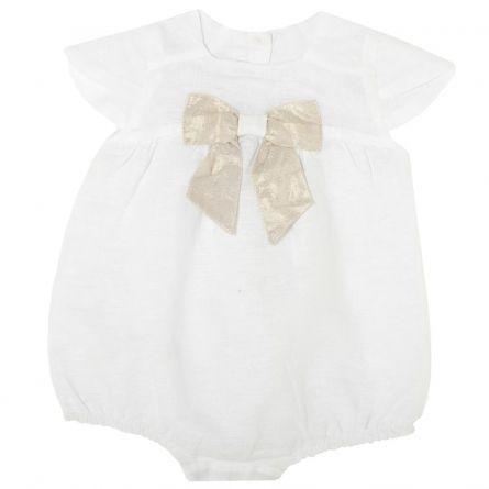 Salopeta bebelusi Chicco, fara maneci, alb, 50