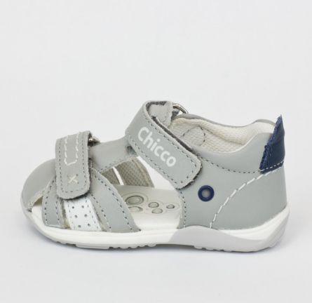 Sandale copii Chicco, sport, gri, 18