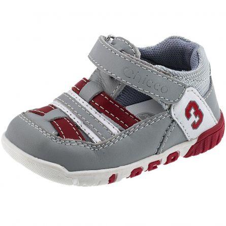 Sandale sport copii Chicco, gri cu model, 18