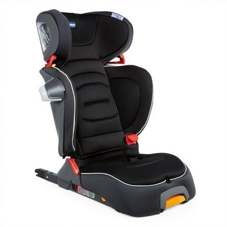 Scaun auto Chicco Fold&Go I-Size Isofix, Jet Black (Negru), 100-150cm, 3-12ani