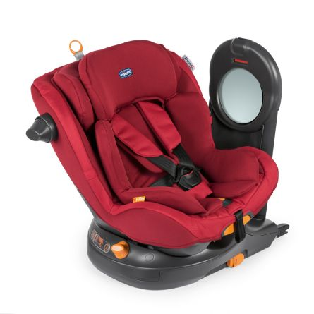 Scaun auto rotativ 360 Chicco AroundU ISize, Isofix, Red Passion, 0-18kg