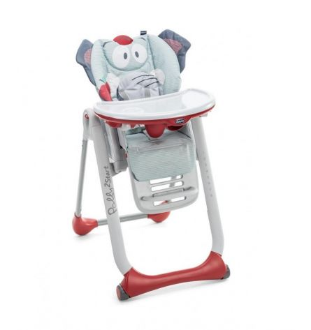 Scaun de masa Chicco Polly 2 Start, Elephant, 0 luni+