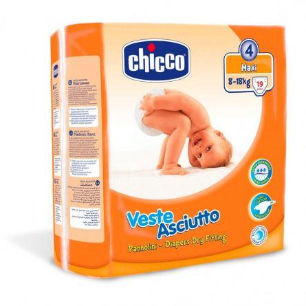 Scutece Chicco unica folosinta MAXI, Nr. 4 (8-18kg), 19buc