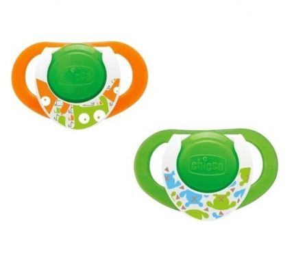 Suzeta Chicco silicon Physio Compact, forma ergonomica, 12luni+, 2buc, lumi